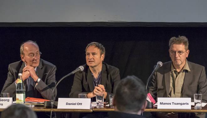 Pressekonferenz 19.11.2015 | Hans-Georg Küppers, Daniel Ott, Manos Tsangaris